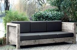 bouwtekening loungebank voor in de tuin