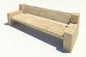 Bouwtekening voor een steigerhouten bank nodig for Steigerhouten bank bouwtekening