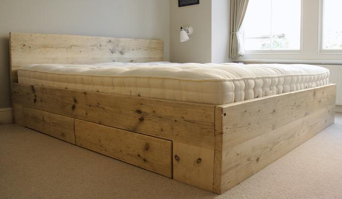 doe het zelf steigerhout bed