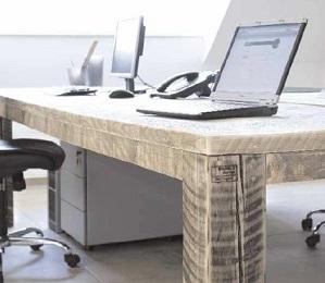 bureau van steigerhout maken